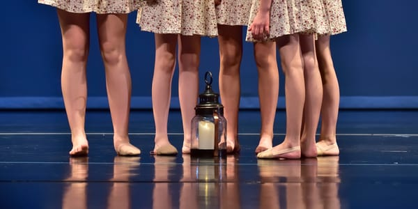 Five Dancers And Lamp
