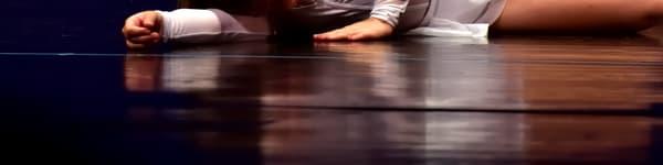 Dancer On Stage Reflection