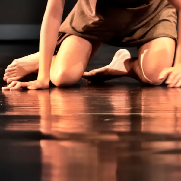 Dancer Kneeling Reflection