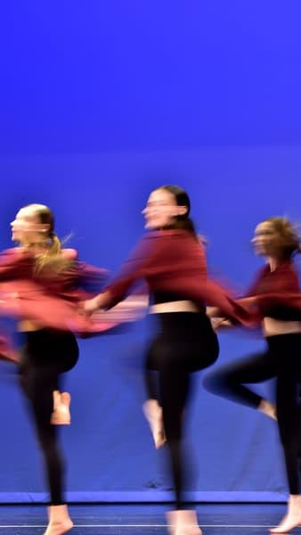 Three Dancers Stage Left