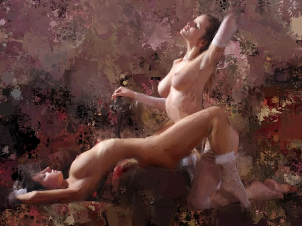 Two Girls Playing Limited Edition by Eric Wallis. Signed and numbered with certificates of authenticity.