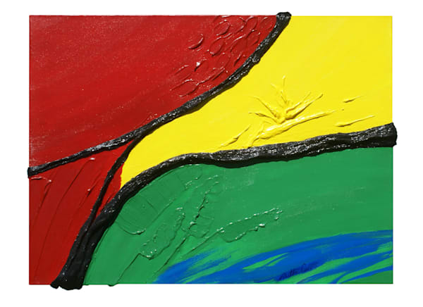 Macaw Abstract Art | Sculpted Paint