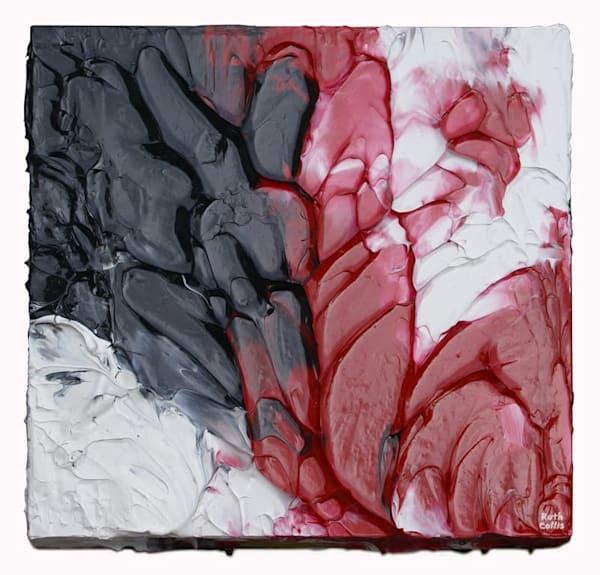 Red, Black, &  White Peel 1 Art | Sculpted Paint