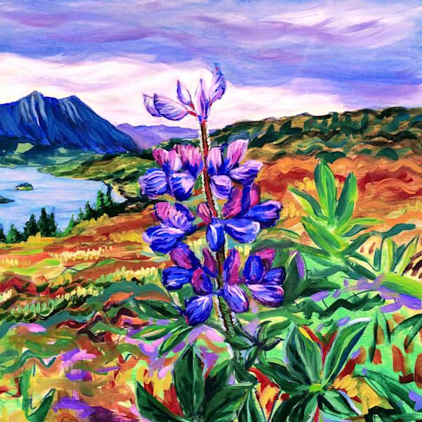 Lupine on Tundra - Alaska Art Print