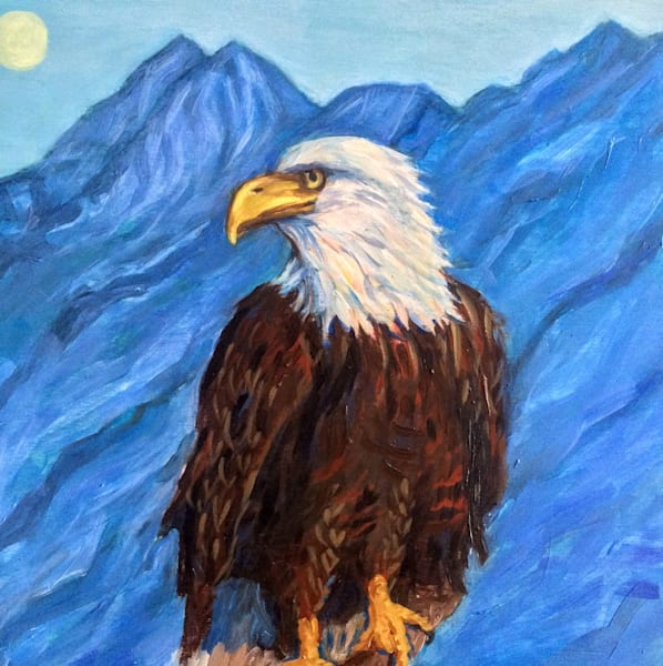 Alaska Eagle Sentinel Art Print