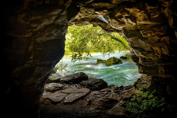 Big Springs From Cave Photograph 5361   Missouri Photography   Koral Martin Fine Art Photography