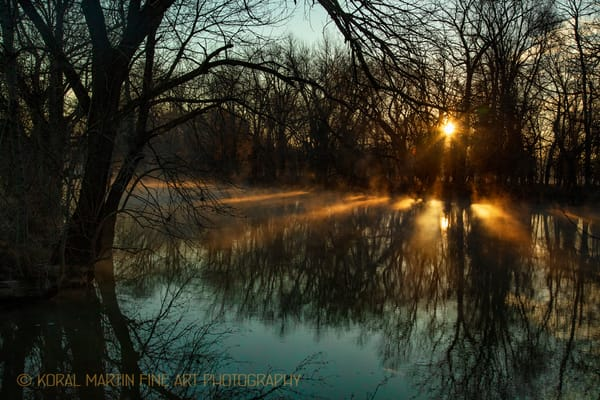Sunrise with Steam on Spring River Photograph 7904  | Missouri Photography | Koral Martin Fine Art Photography