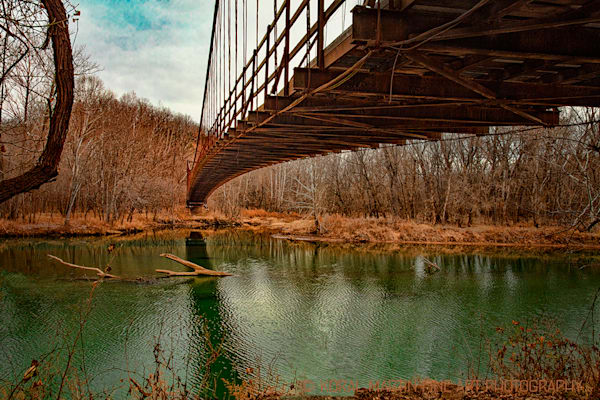 Swinging Bridges Lake Of The Ozarks Photograph 6069  | Missouri Photography | Koral Martin Fine Art Photography