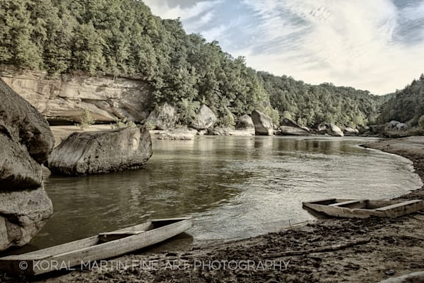Boats Cumberland0128 Aged Colorized Photograph 1  | Kentucky Photography | Koral Martin Fine Art Photography