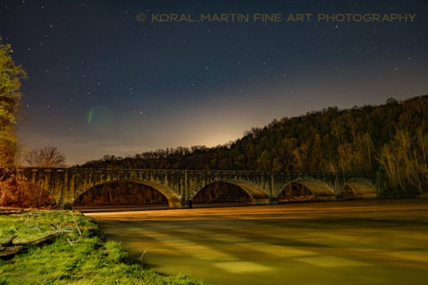 Cumberland Falls Bridge Night Photography Photograph 8437  | Kentucky Photography | Koral Martin Fine Art Photography