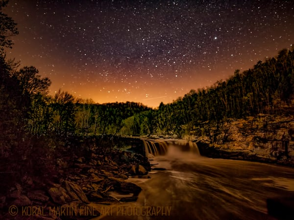 Cumberland Falls Night Photograph 8382  | Kentucky Photography | Koral Martin Fine Art Photography