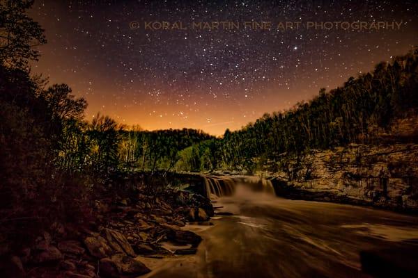 Cumberland Falls at night Photograph 8382  | Kentucky Photography | Koral Martin Fine Art Photography
