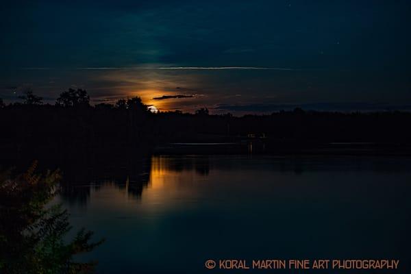 Moon Rising Jacobson Lake Photograph 8947 | Kentucky Photography | Koral Martin Fine Art Photography