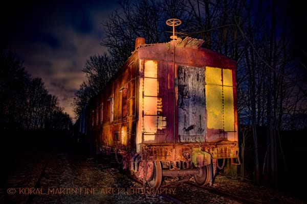 Old Train Light Painting  | Night Photography | Koral Martin Fine Art Photography