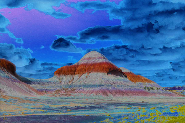 The Tepees print of photograph of The Tepees, Petrified Forest National Park for sale as digital art by Maureen Wilks