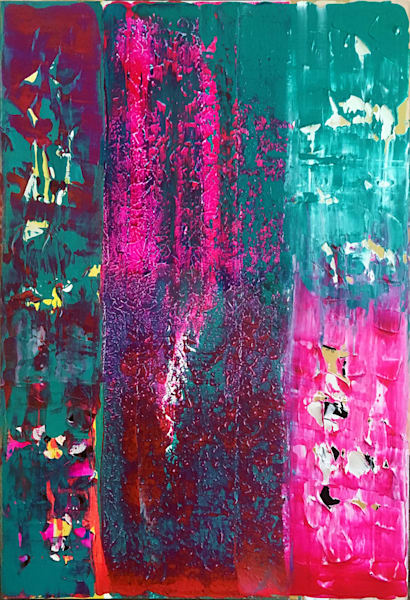 Let It Slide abstract painting