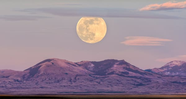 Bear Paw Mtns Moonrise Photography Art | Craig Edwards Fine Art Images