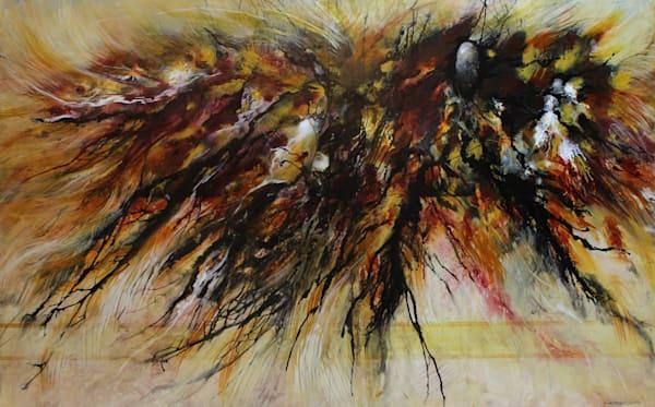 Rhizome...an original acrylic on panel by Kim Howes Zabbia
