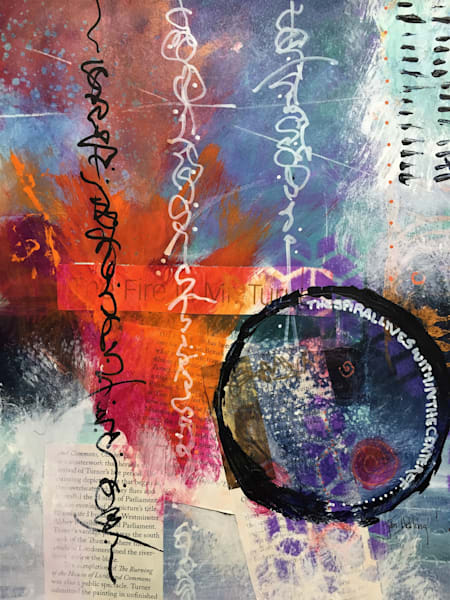 abstract, mixed media, art journal