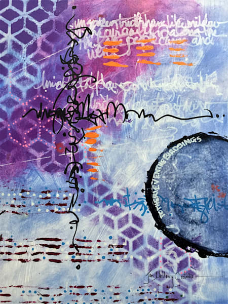 abstract, mixed media, asemic art, art journal
