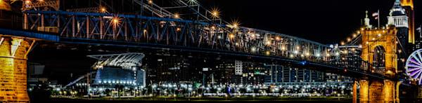 John A. Roebling Suspension Bridge   8x32.75 Art   No Blink Pictures, LLC