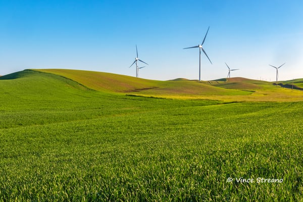 The rolling landscape of the Palouse farmlands by photographer Vince Streano