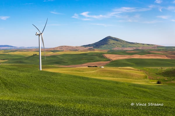 A Palouse Washington scenic overview with Steptoe Butte in the background.