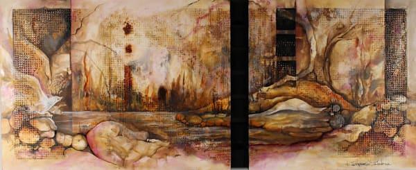 Density III...an original acrylic & wood on panel by Kim Howes Zabbia