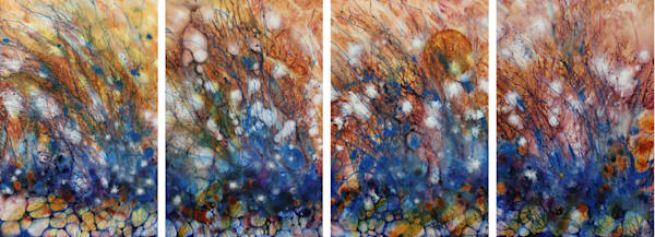 Perpetual, a series of 4 acrylics on panel, by Kim Howes Zabbia