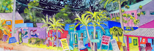 2018005 Matlacha Street Scene Ii Art | David Beale