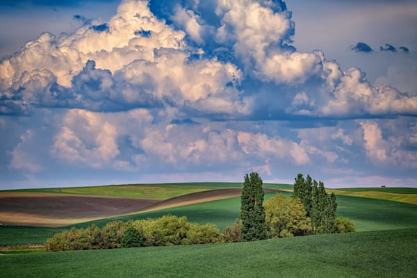Gathering Clouds in the Palouse by Rick Berk
