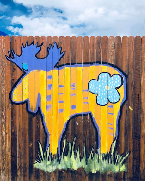 moose, marvelousmoose, colorado, march, art, paintedfence