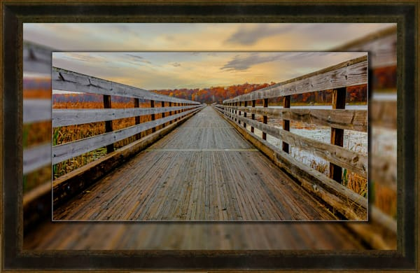 Dower  Looking Forward Pano 3D Leather  3D Art Print