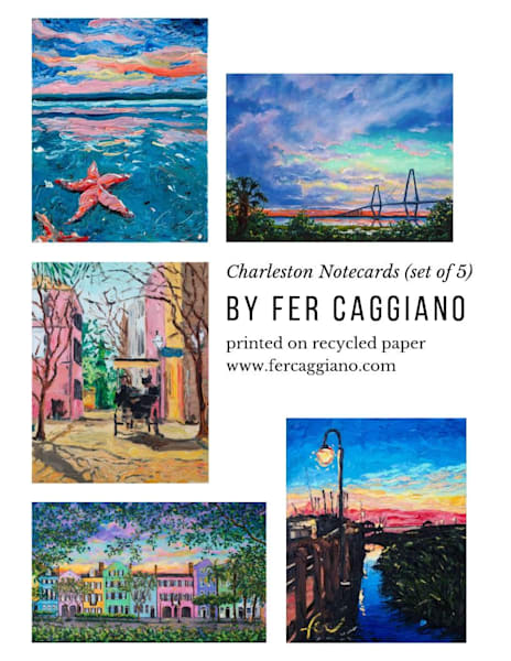 Notecards of Charleston Original Art