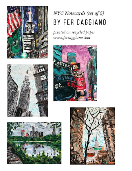 New York City Art Notecards