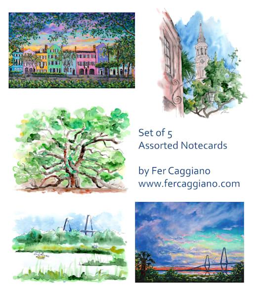 Charleston Notecards #1