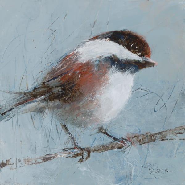 Chestnut-Backed Chickadee, original and fine art prints by artist Sarah B Hansen