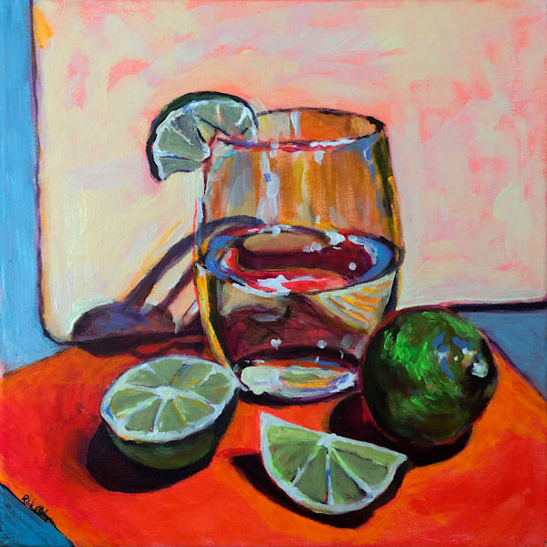 Limes and Water | Fine Art Painting Print by Rick Osborn