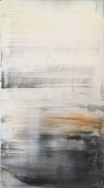 Apparition neutral acrylic abstract painting