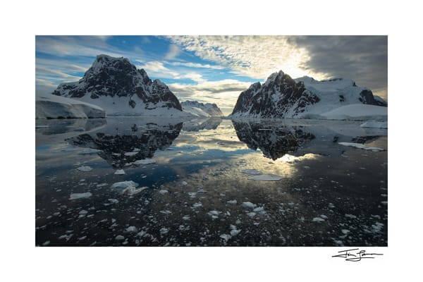 Photo of Lemaire Channel Sunset in Antarctica.