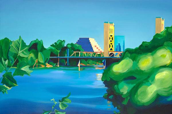 Sac Tower Bridge 24x30 Canvas Art   HFA print gallery