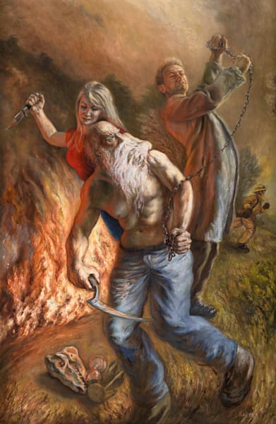 Conflict of Generations - Original Oil  Painting for Sale - Figure Painting - Art of Jason Rafferty - Asheville NC