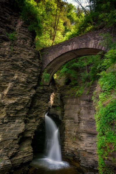 Footbridge in Watkins Glen by Rick Berk