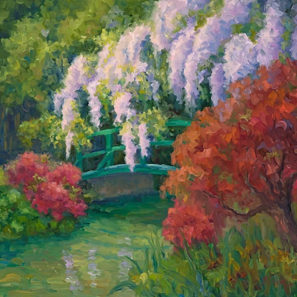 Wisteria On The Bridge Art | B. Oliver, Art
