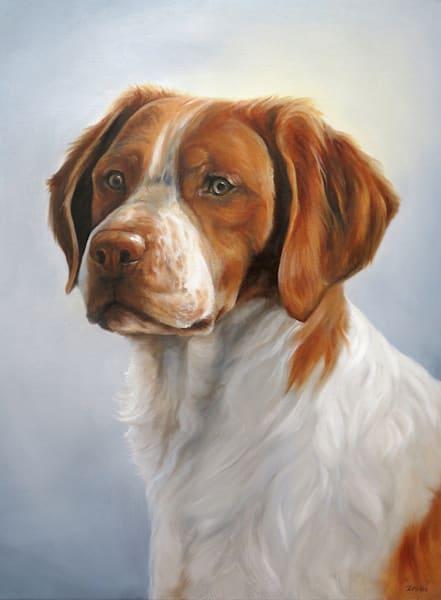 Portrait Of A Brittany Art | Van Isle Dog Art