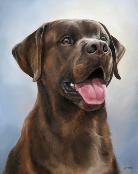 Portrait Of A Chocolate Lab Art | Van Isle Dog Art
