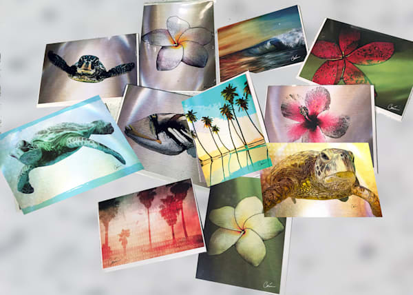 Art Paintings on Greeting Cards