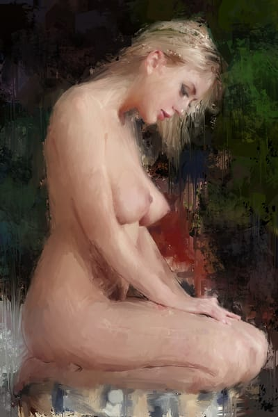 Kneeling Woman by Eric Wallis.