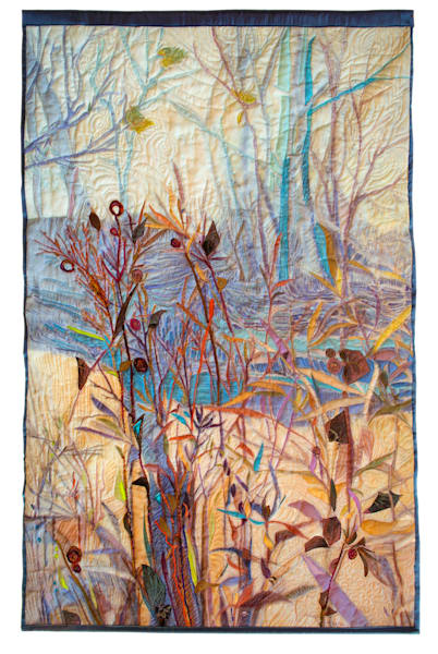 Winter Solstice Fiber Art Quilt by Dorothy Fagan