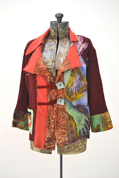 Fiber Art Ruby Slipper Jacket by Dorothy Fagan